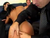 Sandra Romain gang bang double anal
